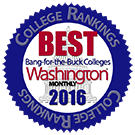"Washington Monthly Magazine ""Best Bang for the Buck"""