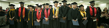 Group of graduates at a personal ceremony