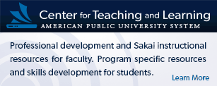 Learn more about the Center for Teaching and Learning.