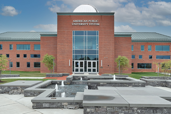 The APUS Technology Building with observatory dome, located in Charles Town, West Virginia.