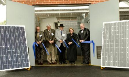 APUS Solar Array ribbon cutting