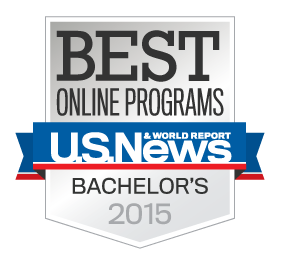 Ranked as a top online university by U.S. News & World Report for 3 years running (2013, 2014, 2015)