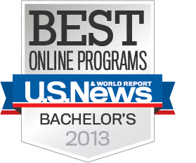U.S. News & World Report Best Online Bachelor's Program badge